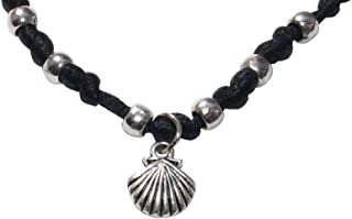 Scallop satin bracelet - black