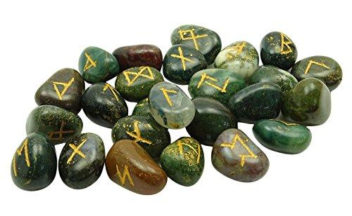 HARMONIZE Blood Stone Envejecido con El Regalo Espiritual Curación De Cristal De La Runa del Alfabeto De Símbolos De Reiki