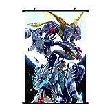 Haushele OFD Anime Digimon Serie von Garuru Tier Poster, dekorative Gemälde Anime Scroll hängen Leinwand Gemälde