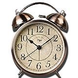 Rétro classique Horloge de bureau, Saytay Réveil très bruyant sans tic-tac,...