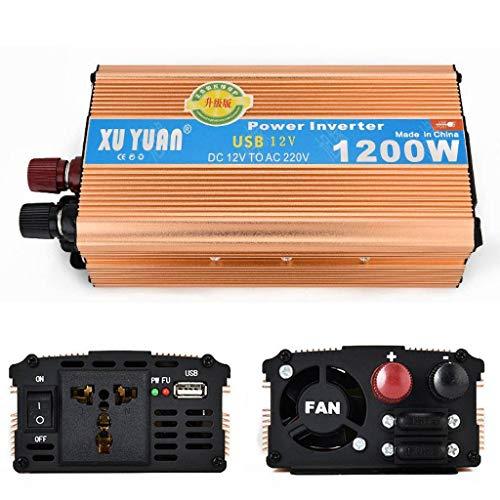 Inversor de Corriente de 1200w, DC 12V a AC 110 / 220V 1 Puertos USB, para RV Truck Boat, convertidor de energía Solar, convertidor de automóvil-24vto110v