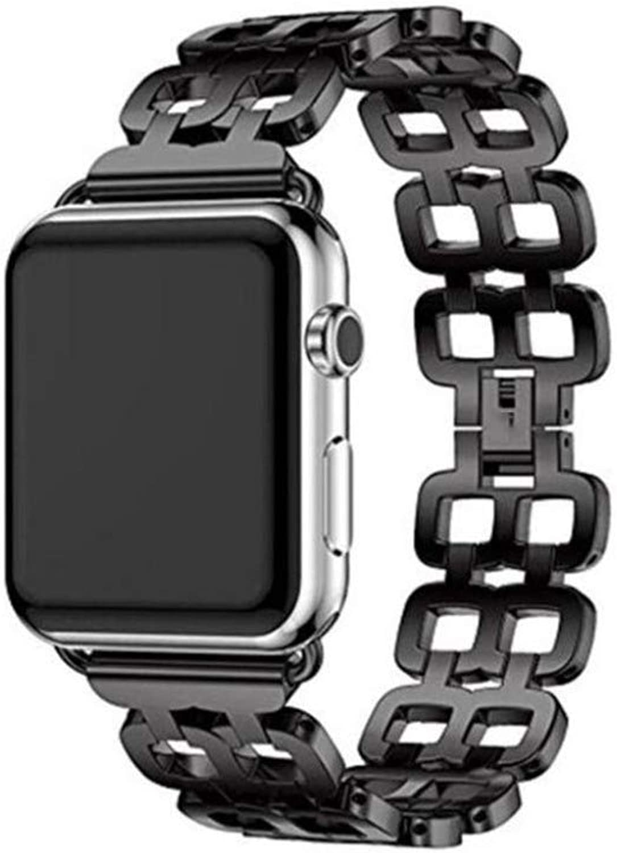 YQSMYSW Apple Watch Strap Apple Watch Strap Chain Stainless Steel Bracelet 38mm Sport Adjustable Replacement Watch Strap