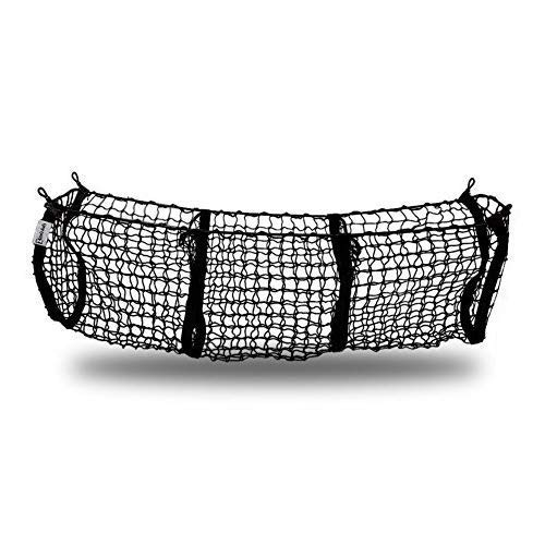 Zento Deals Heavy Duty Stretchable Black Mesh Net Cargo Trunk Storage Organizer- Keeping Things Secured and More Organize