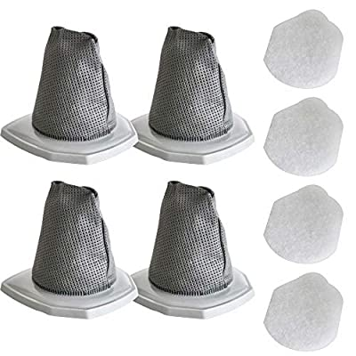 GIB cleaningtool Vacuum Filter Set Compatible with Eureka NES210 NES212 NES215 NES215A, 3-in-1 Stick Filters Compare to Part # N0101 & N0102?4 Filters and 4 Pre-Motor Filters