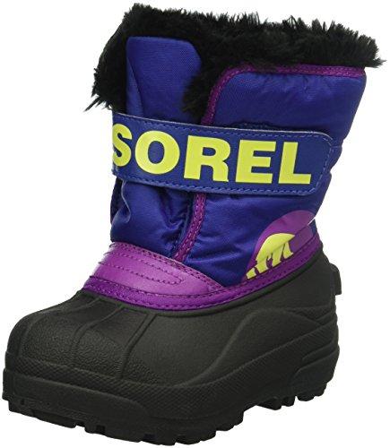 Sorel Childrens Snow Commander Unisex-Kinder Schneestiefel, Mehrfarbig (Grape Juice/bright Plum), 30 EU