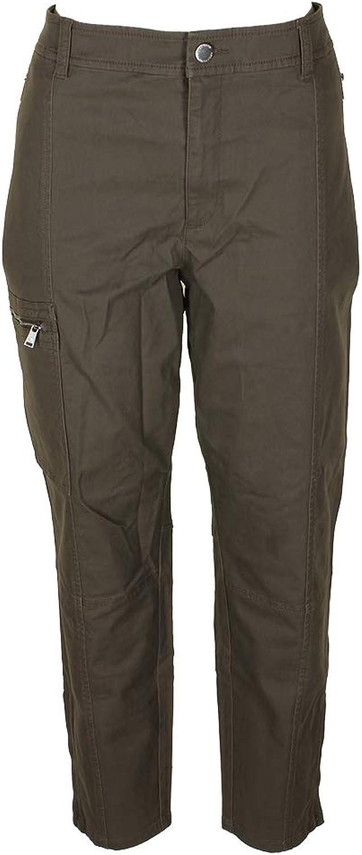 Lauren Ralph Lauren Womens Plus MidRise Skinny Cargo Pants Green 20W