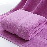 Toalla de baño de lujo, 100% algodón altamente absorbente para baño, toalla de ducha, toalla de calidad de hotel súper suave, 90 x 180 cm, morado