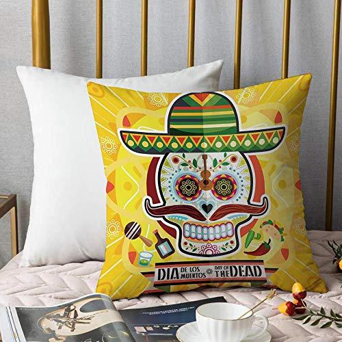 Kissenbezüge Kissenbezug Polyester,Tag der Toten Dekor, Mexikanischer Zuckerschädel...