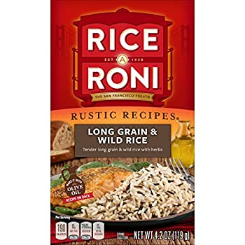 Rice a Roni Rustic Recipies Long Grain and Wild Rice Mix 4.2oz  Pack of 12 Boxes