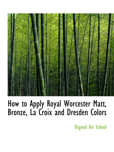 How to Apply Royal Worcester Matt, Bronze, La Croix and Dresden Colors