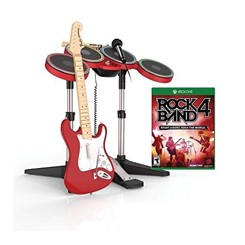 Xbox One Rock Band 4 Exclusive RED Band In-A-Box Bundle