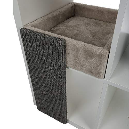 TRIXIE Bett für Katzen, weich, für Regal, quadratisch, für Katzen, Zubehör für Katzen, für Katzen, Katzen, Katzen, Betten, Buchläden, 33 x 48 x 37 cm