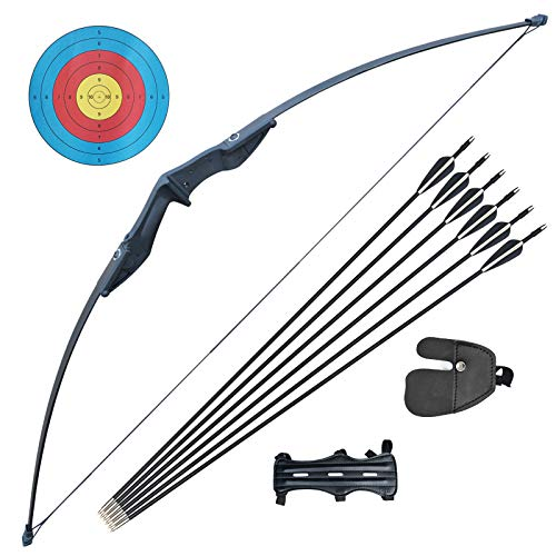 D&Q Hunting Bow and Arrow Set Adult Recurve Bows for Adults Archery Bow 51'...
