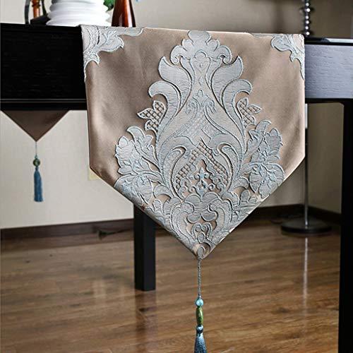 Jag kommer att vidta åtgärder nu modern bordsflagga kaffe bordsduk konsol bordsflagga TV bänk tyg pianotäcka tyg och stilar (färg: Lätt kaffefärg, storlek: 30 x 240 cm)