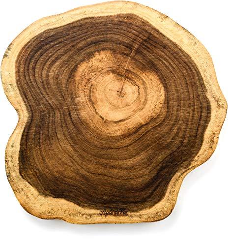 Style de Vie Serveerplank, Acaciahout, Rond groot, Geschikt voor borrel, tapas of als broodplank, Behandeld met natuurlijk olie