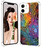 Cover Bumper compatibile con iPhone 12 Max 2020 6.1', custodia Glitter Bling Slim Soft Trasparente Silicone Marmo Custodia Protettiva Anti impronte digitali Resistente ai graffi Apple 12 Max Cover (6)