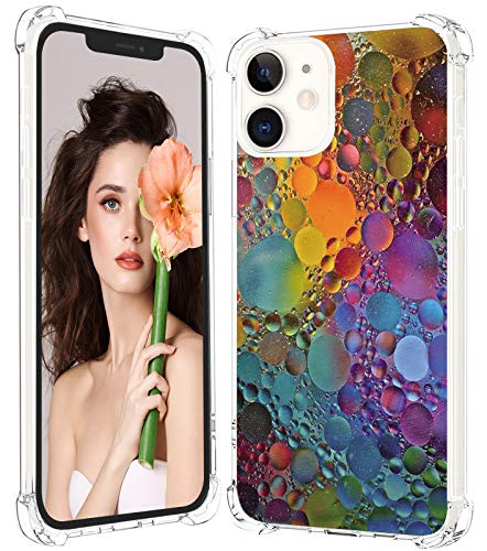 Carcasa protectora compatible con iPhone 12 2020 de 6,1 pulgadas, brillante, fina, transparente, silicona, mármol, antihuellas, antigolpes, antiarañazos, para iPhone 12 Pro
