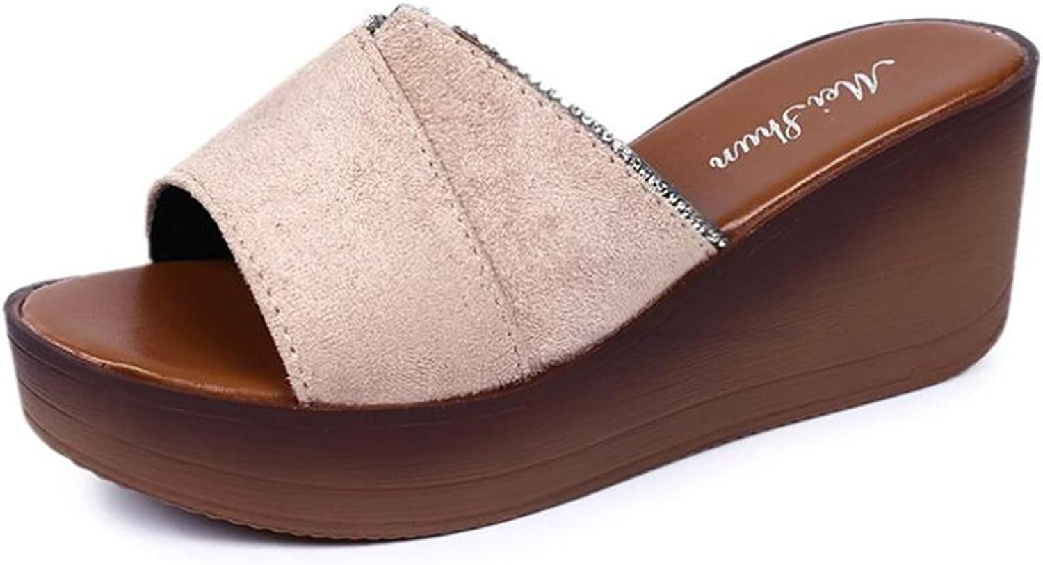 HUAN Woherrar skor Frosted Springaa  Winter ljus Soles Loafers Loafers Loafers & Slippers% Flip gul, svart, Apricot  ny notering