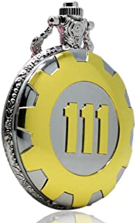 Men's Pocket Watch, Golden Luxury Fallout 4 Vault 111 Steampunk Quartz Pocket Watch, Gifts for Men - WuHu Ren Store