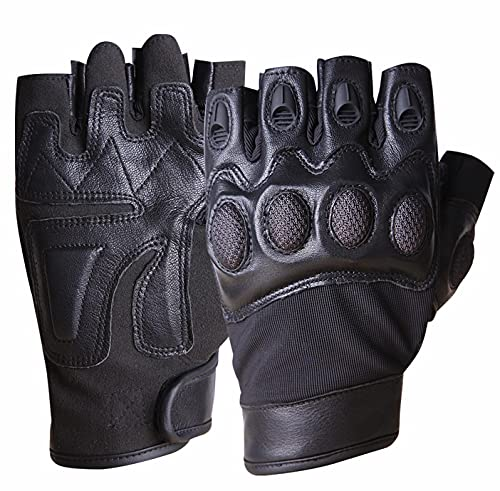 Motorcycle Tactical Gloves Men Leather Light Weight Military...