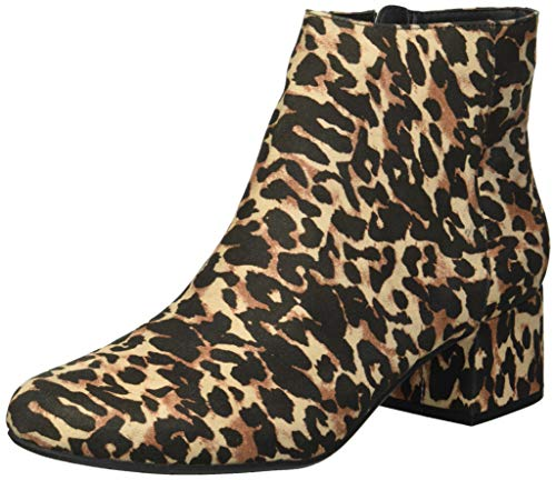 Kenneth Cole REACTION Women's Road Stop Ankle Boot, Leopard, 7.5