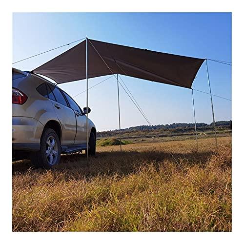 210D Impermeable SUV Coche Toldo Toldo Plegable Camping al Aire Libre Tienda Sun Shelter 5-8 Personas Viajes Picnic Sun Shelter Anti-UV S/M/L (Color : Green 300x150cm)