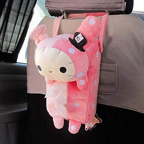 HaaVee® Colorful Cute Animal Car Tissue Holder Back Hanging Tissue Box Covers Napkin Paper Towel Box Holder Case Pape...