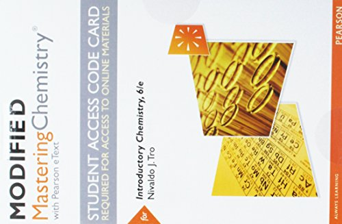 Modified Mastering Chemistry with Pearson eText -- Standalone Access Card -- for Introductory Chemistry