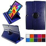 COOVY® 2.0 Cover für Samsung Galaxy Note PRO 12.2 SM-P900 SM-P901 SM-P905 Rotation 360° Smart Hülle Tasche Etui Case Schutz Ständer   dunkelblau
