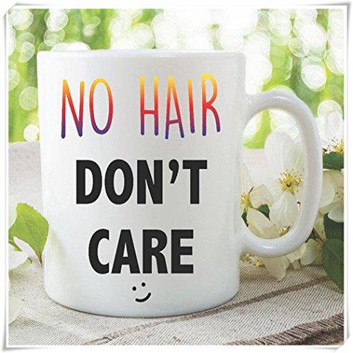 Novelty Funny Coffee Mug No Hair Don't Care Husband Mug Boyfriend Gift Best Friend Bald Gift Adult Humour Joke Gift Offensive Mug - 11oz Ceramic Coffee Mug Tea Cup, High Gloss