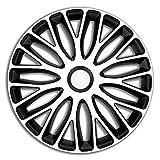 Jeu d'enjoliveurs Mugello 15-inch blanc/noir