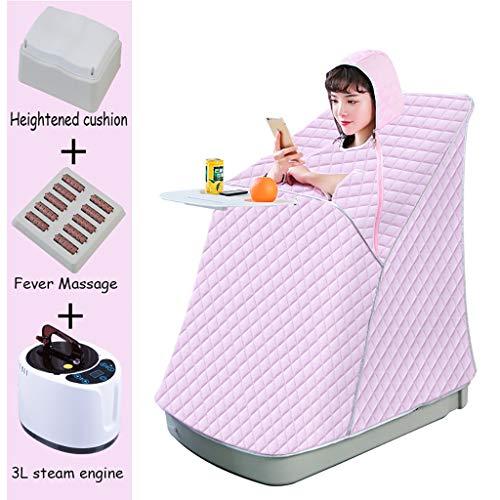Draagbare sauna Therapeutic stoom huis sauna draagbare sauna tent spa met hoog zitkussen, hete massage plank
