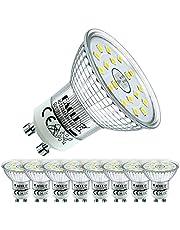 EACLL GU10 LED 5 W glödlampa kan ersätta 50 W halogen. AC 230 V glödlampor, flimmerfri strålkastare, strålvinkel 120° spotlampor, ingen strobe reflektorlampor, 8-pack