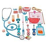 22 piezas de maletín de médico para niños con estetoscopio electrónico, juego de rol pretend Play toys para niños regalo