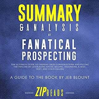 Page de couverture de Summary & Analysis of Fanatical Prospecting: A Guide to the Book by Jeb Blount