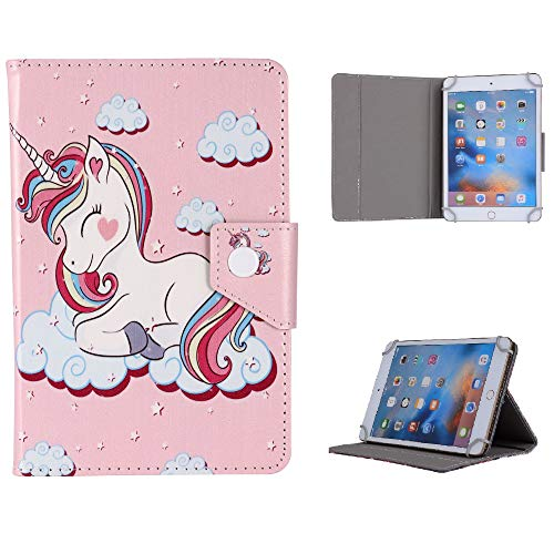 Universal Disney Cartoon & Famous Characters Case for Children kids Boys girls for 7' Inch Tablets - SUITABLE FOR/Amazon / 7' Tablet/Samsung etc. (Ideal as a Gift) (Cute Unicorn)
