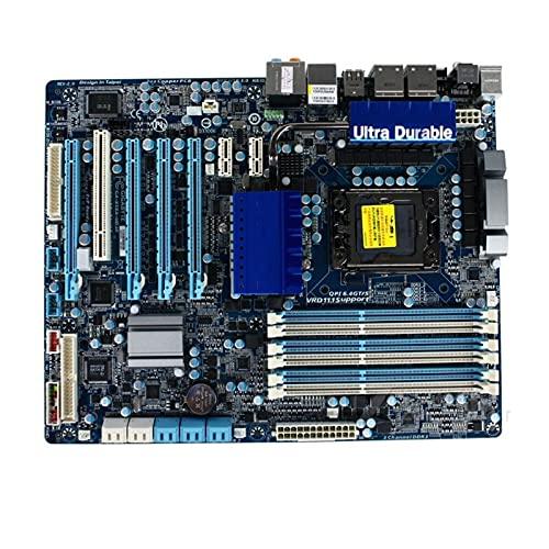 YLYWCG Placa Base de computadora Apta para Tarjeta Madre GA-X58A-UD3R gigabyte Flash Memory lga 1366, Adecuada para Intel x58, con Tarjeta usb3.0, 24gb, sata III