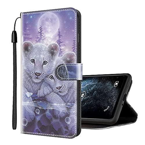 Sinyunron Klapptasche für Handy ZTE Blade V8 Hülle Leder Handytasche Handyhülle Brieftasche Hüllen Hülle mit Kartenfach & Ständer/Hülle03A