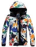 APTRO Skijacke Herren warm Jacke gefüttert Winter Jacke Regenjacke Bunte 9568-1 S