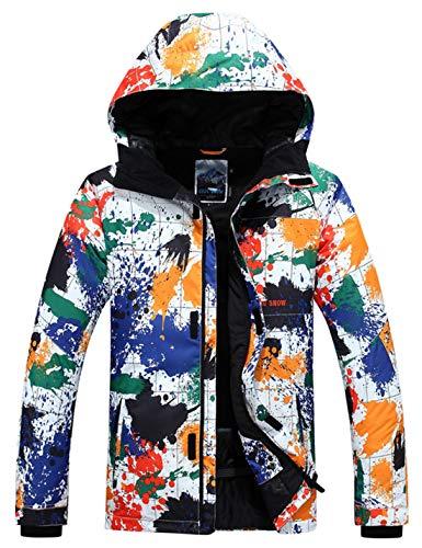 APTRO Skijacke Herren warm Jacke gefüttert Winter Jacke Regenjacke Bunte 9568-1 M