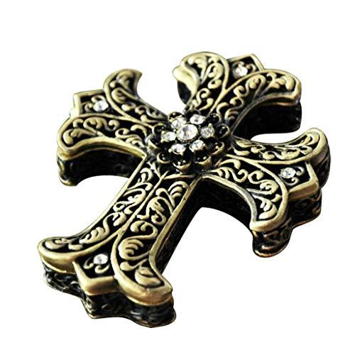 WYJW juwelendoos Europese prinses juwelendoos Opbergdoos Cross Vintage Brievenbus High-end Sieradendoos (kleur: Zilver)