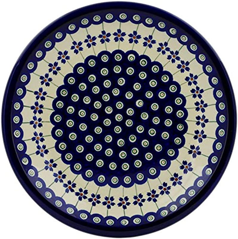 Polmedia Polish Pottery 9 Inch Stoneware Plate H0039A Hand Painted From Zaklady Ceramiczne In Boleslawiec Poland Shape S604A GU1001 Pattern P1419A 166A
