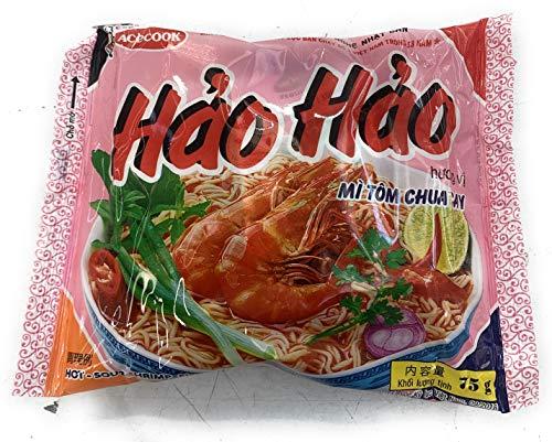 【メーカー正規輸入品 HANG NHAP KHAU ACECOOK NHAT】エースコック ハオハオ ベトナム インスタント麺 ピリ辛エビ味 1ケース30袋入り VINA ACECOOK Hao Hao Mi Tom Chua Cay 30 goi 1 t