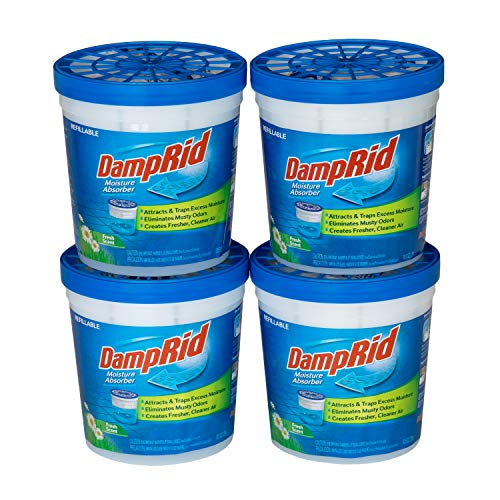 DAMPRID DR Moist ABS 10.5OZ Fresh Scent 4PK - SIOC Moisture Absorber, 1 Size, Blue, 10 Ounces