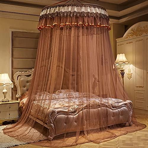 HBYXGS Toldo para cama infantil con mosquitero, cortina redonda de algodón (color: O, tamaño: 2 m)