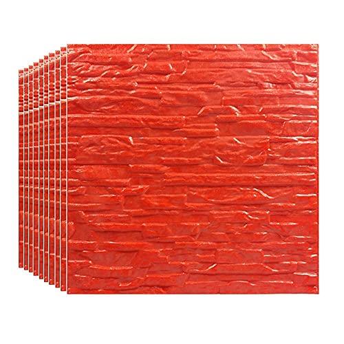 FTFTO Haushaltsgeräte White Brick 3D Wandpaneele Peel und Tapete für Wohnzimmer Schlafzimmer Hintergrund Wanddekoration (Green-1# 5PCS)