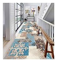 CnCnCn 現代のミニマリストスタイルラグアイル回廊入り口ノンスリップホーム (Color : Blue, Size : 120x450cm)