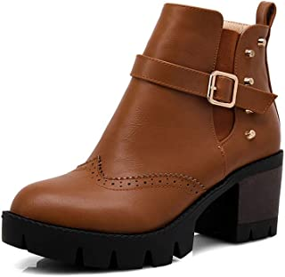 BalaMasa Womens ABS13984 Leather Boots