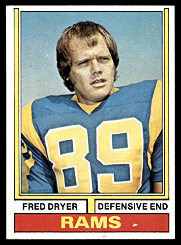 1974 Topps # 471 Fred Dryer Los Angeles Rams (Football Card) NM/MT Rams San Diego St