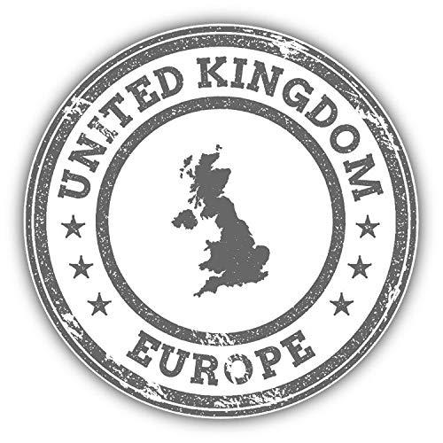 Tamengi United Kingdom Map Europe Grunge Rubber Stamp Car Bumper Sticker Decal 5 '' x 5 ''